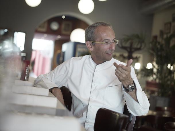 Le chef Michel Portos dans son restaurant Le Malthazar