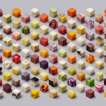 Cubes alimentaires par le studio Lernert & Sander