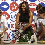 Michelle Obama pushes healthy food agenda in Milan