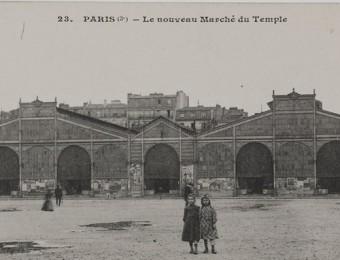 Paris (3e) - Le nouveau marché du Temple.