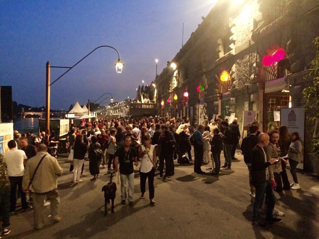 street food le long du Po
