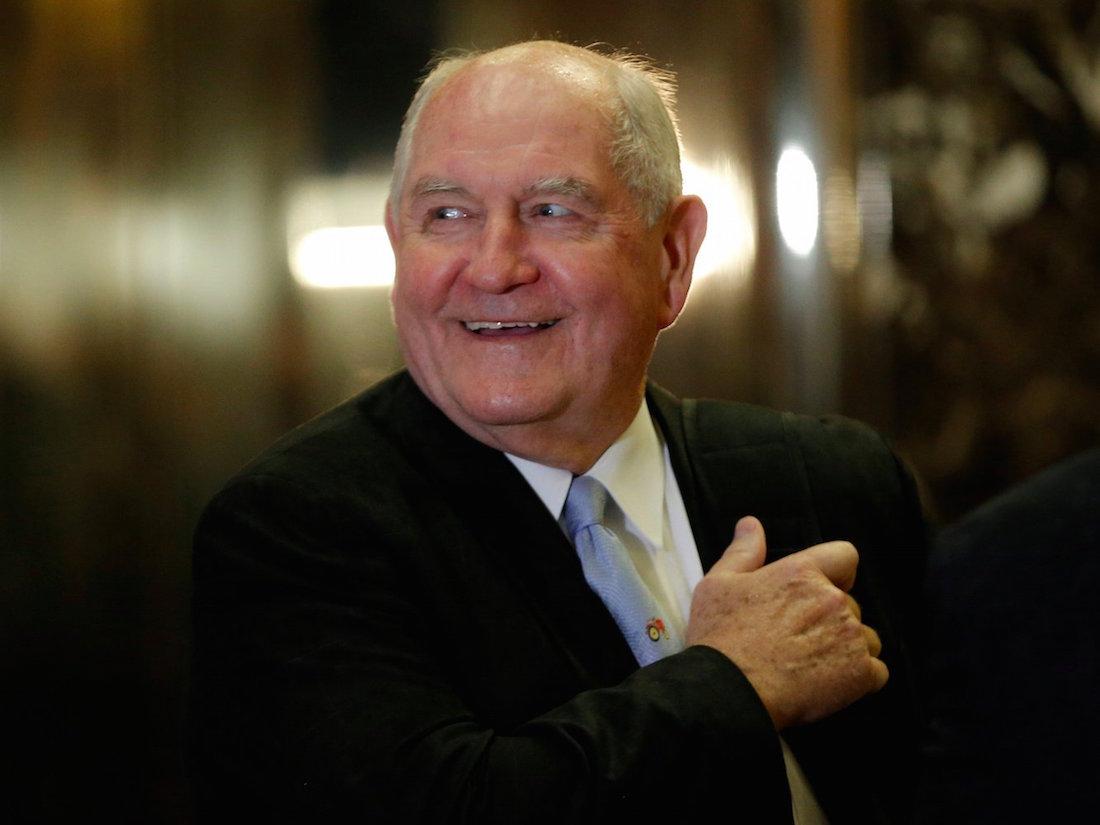 Trump nomme un ancien Gouverneur à l'agriculture / Sonny Perdue