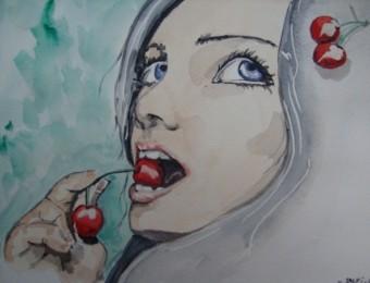 Gourmandise par l'aquarelliste Sandro