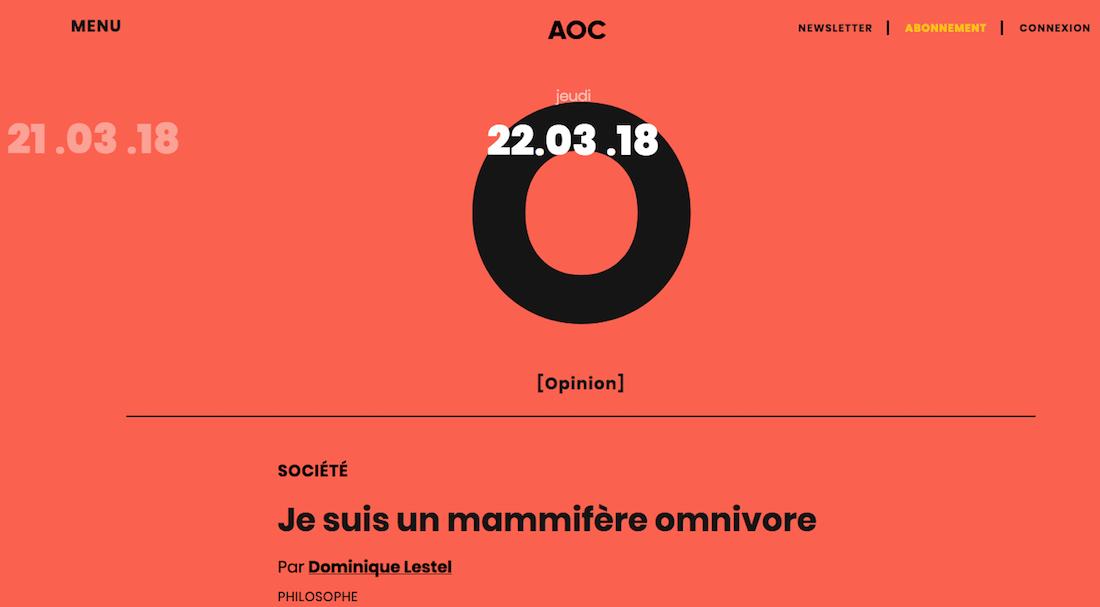 (French) A.O.C. comme Analyse, Opinion, Critique, du journalisme à haute valeur ajoutée